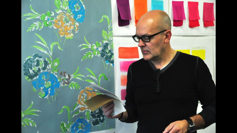 Textile designer and tutor, Paul Singleton