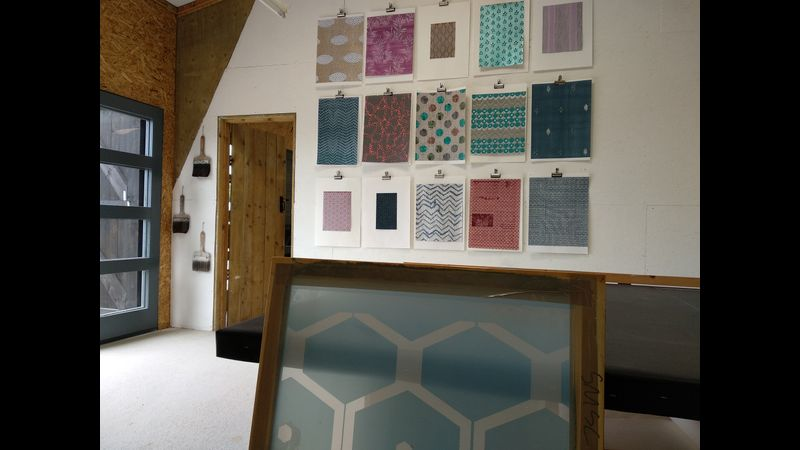 The print studio at Black Barns Devon.