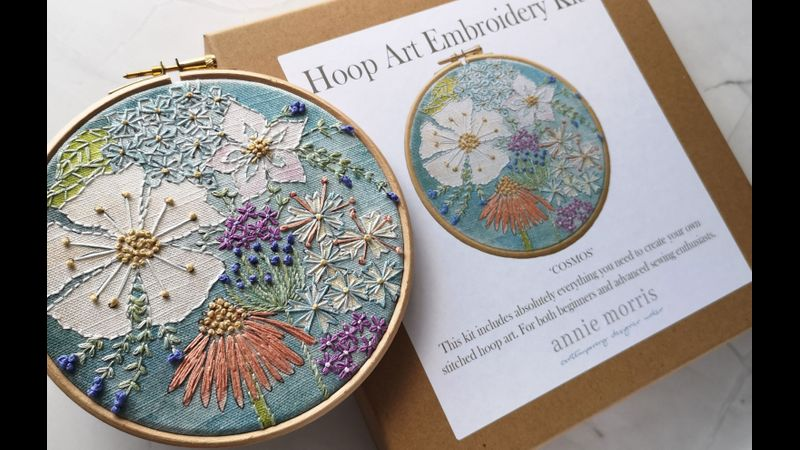 Cosmos embroidery kit