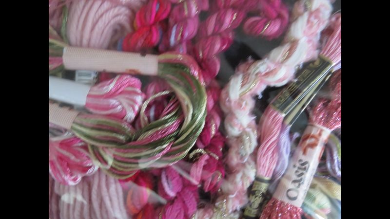 hand Threads in shades of Pinks