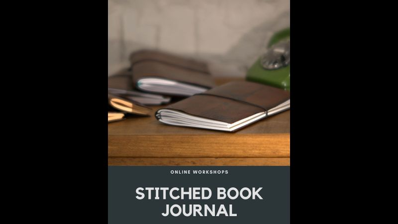 Online class - make a hand stitched leather journal and a midori