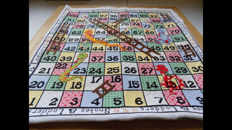 Stitched Snakes & Ladders