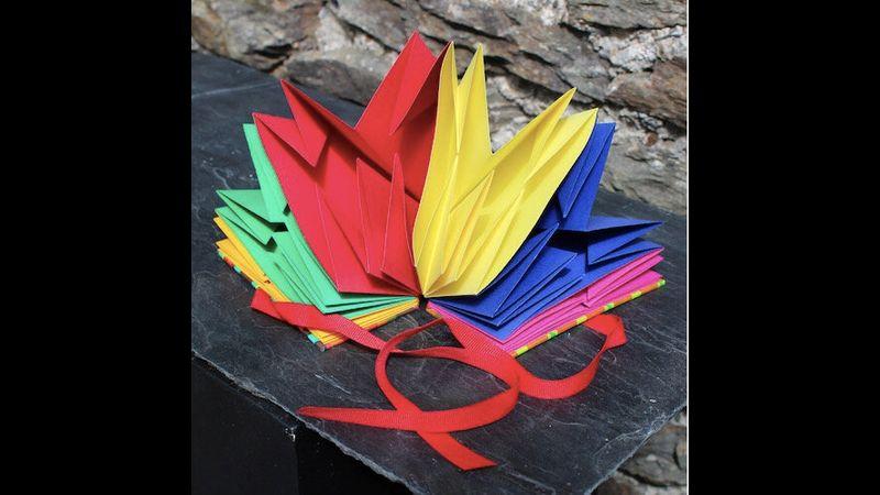 Map fold bookbinding