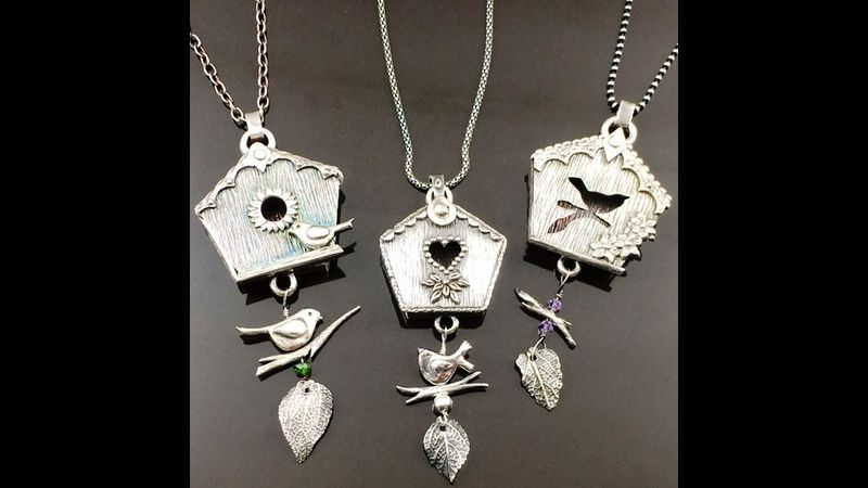 Silver Clay Swing Lockets by Tracey Spurgin of Craftworx Jewellery Workshops