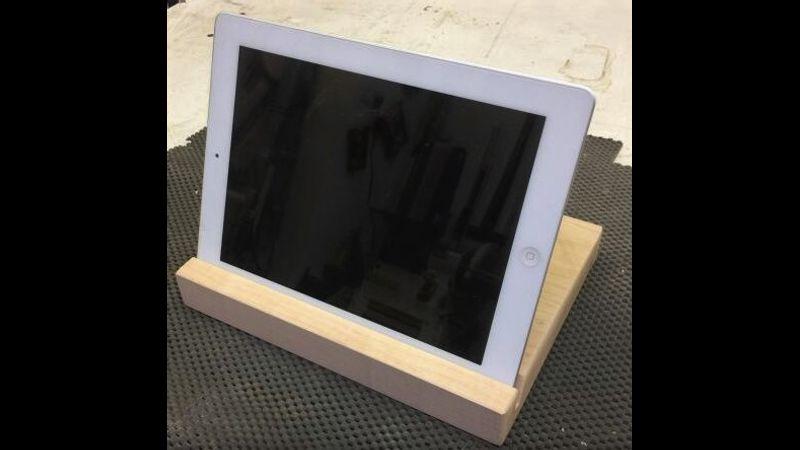 Tablet holder, woodwork, surrey
