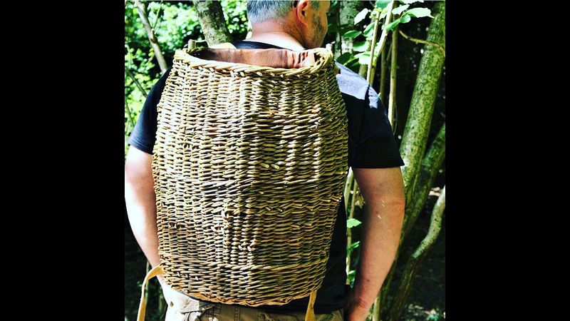 Joe wearing his own willow backpack