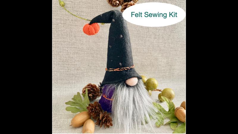 Halloween felt Gnome Sewing Kit
