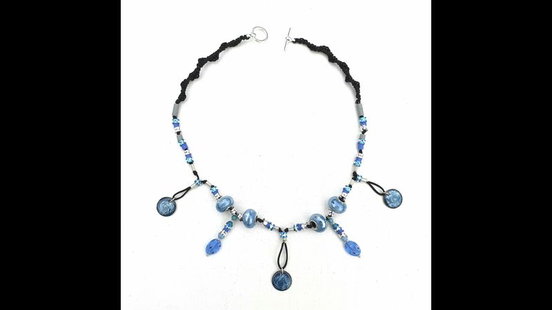 A Necklace  made from one of the kits - Colours and Beads vary in each one.