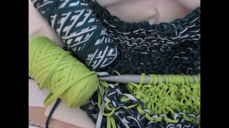 Big Fat Knitting  with T.Shirt yarn