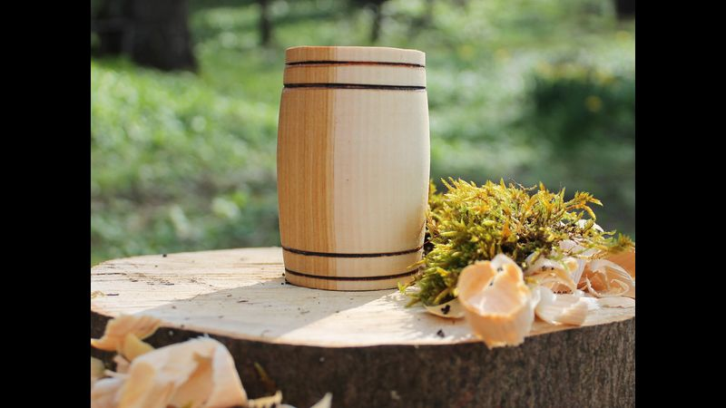 Handcrafted Willow Barrel  Whisky Tumbler