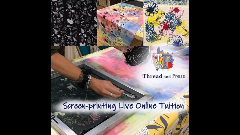 Screen printing with Thread and Press