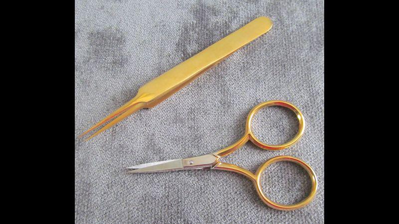 Goldwork scissors and tweezer set