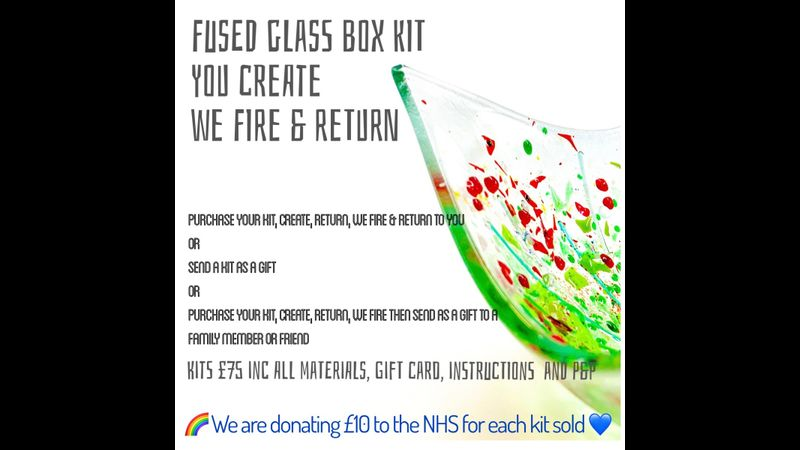 Fused glass at home and you don't need a kiln! We're proud to say that our kits will raise some money for the NHS too