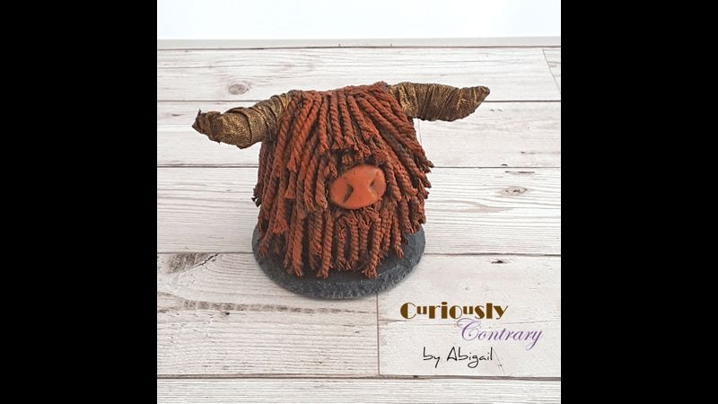 Highland Cow by Curiously Contrary