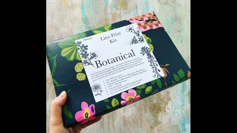 Botanical Lino Print Kit