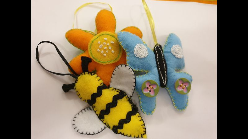 Butterfly & Bees