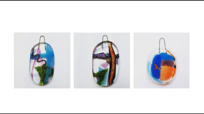 Glass fused pendants