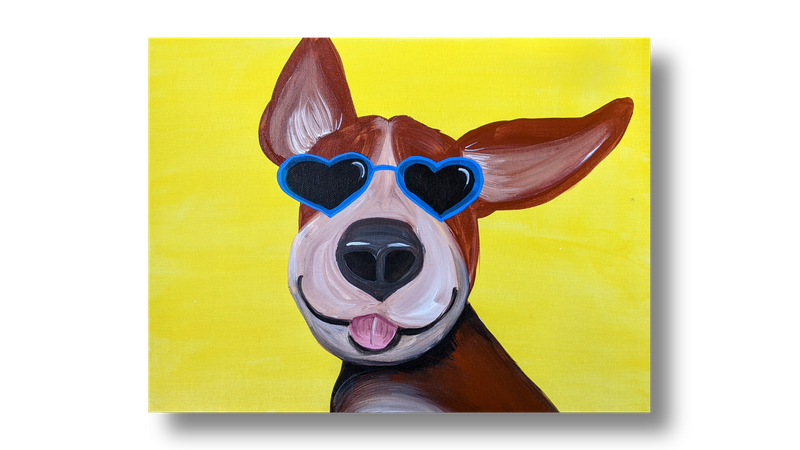 Painting model: My Dog is a Rockstar