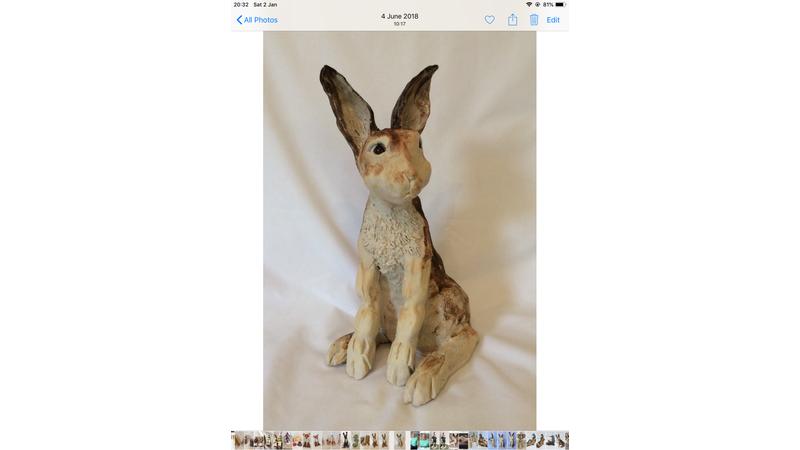35 cm tall Hare