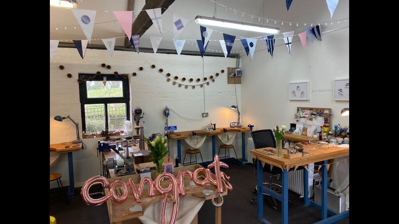 Jewellery Making Private Parties at Frensham Old Barn workshop