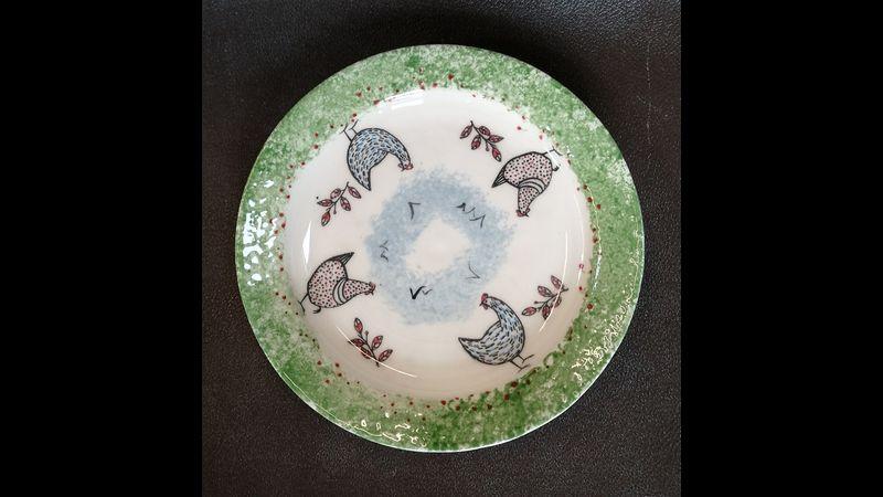 Farmyard Chicken plate