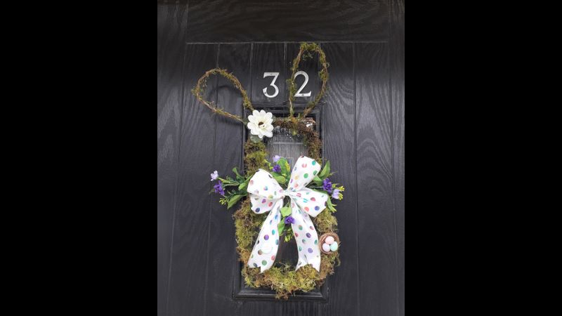 Spring Easter Bunny Wreath to put you in the Easter Mood.