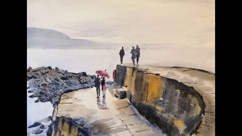 Lyme Regis watercolour kit & tuition