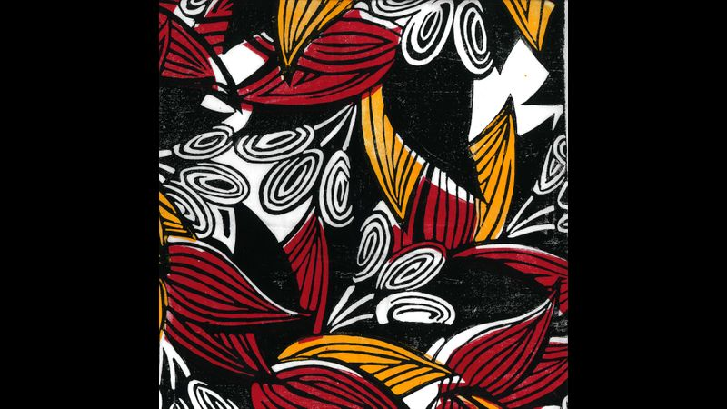 Multi coloured block prints