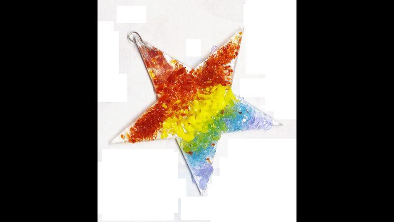 fused rainbow star