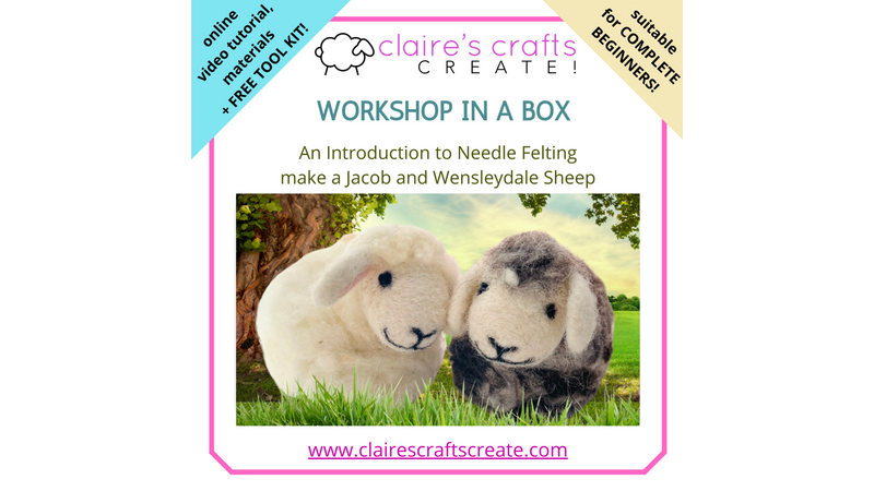 Kit with free toolkit and online video tutorial for the sheep is included