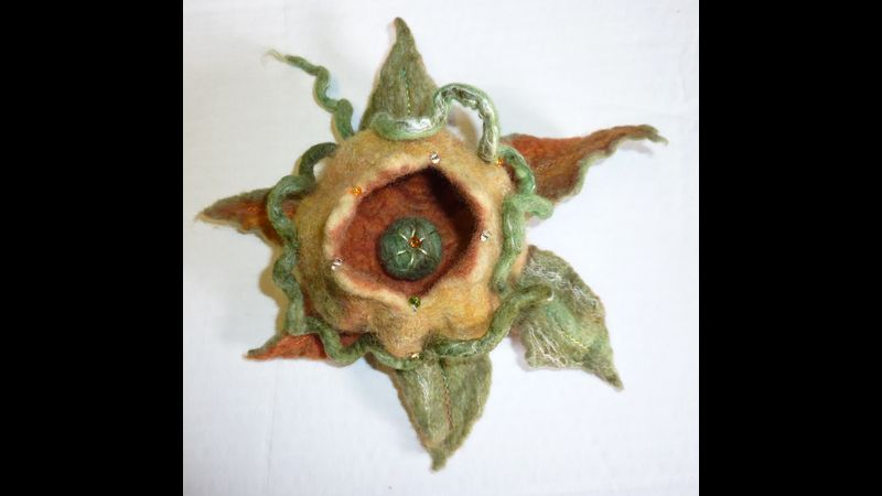Nancy Shafee embellished seedpod