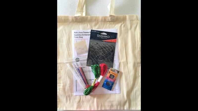 Sashiko Tote Bag Kit