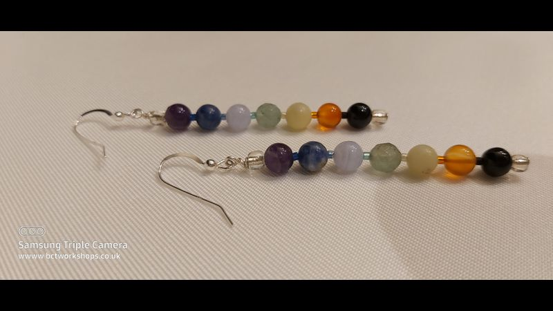 ♥ 925 Sterling Silver Ear Wires ♥  Chakra Kit  ♥  Completed  ♥