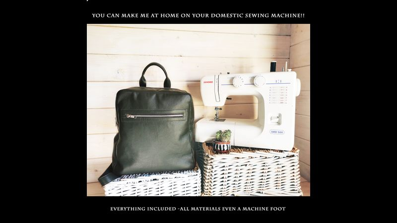 The Neville Backpack kit - achievable on a domestic sewing machine