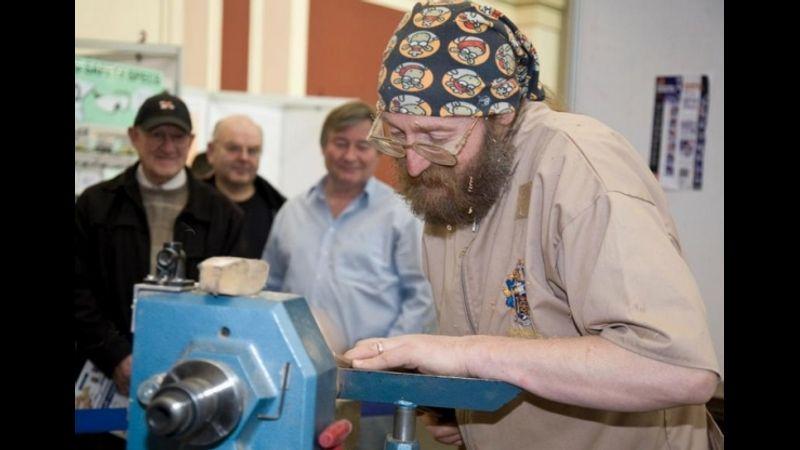 Gregory Teaching woodturning
