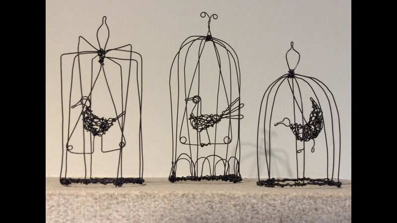 Birds on a Wire - creating small Sculptures.