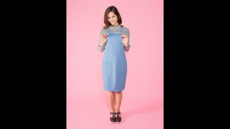 Tilly and the Buttons Cleo Pinafore Dress longer version