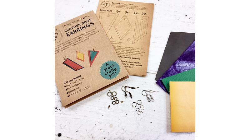 Leather earring kit