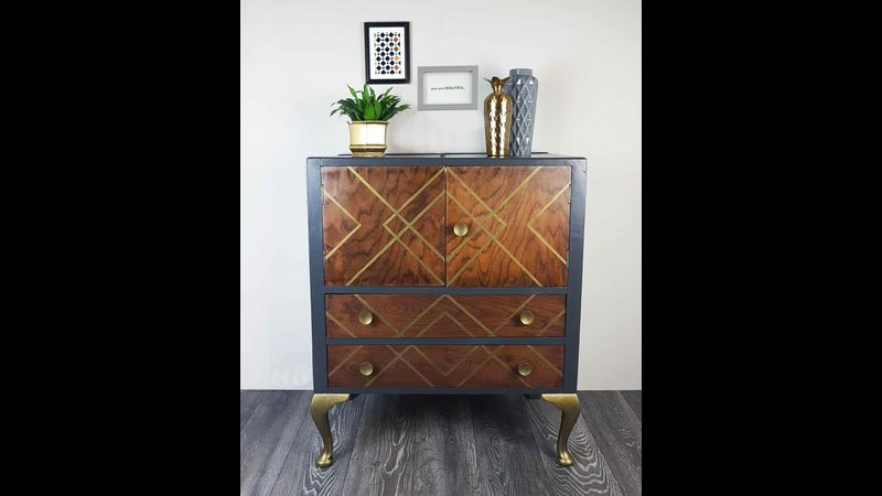 An Upcycled drinks cabinet by Done up North