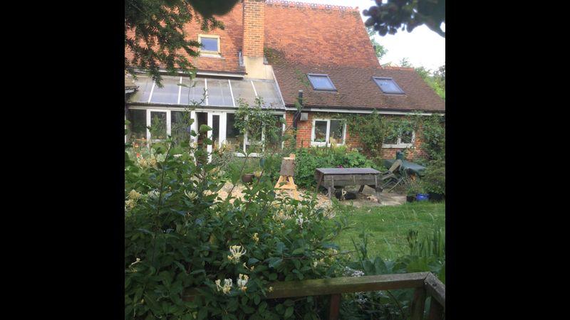 Old School back garden patio area