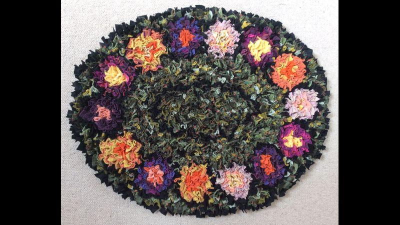 Progged cotton rag rug