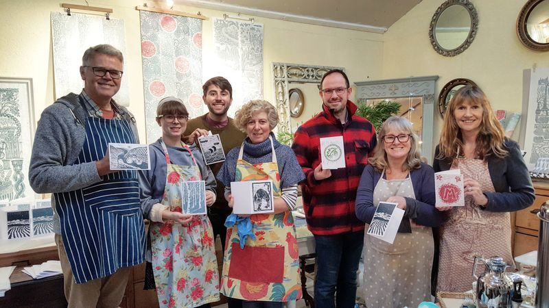 New printmakers showing off their printed cards
