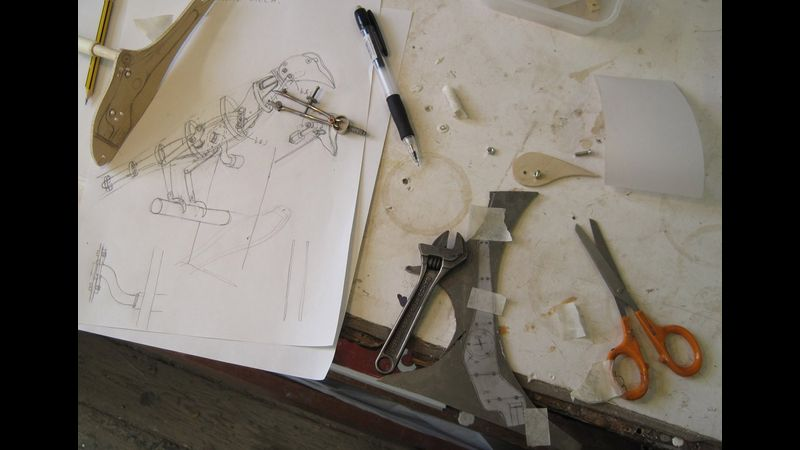 I will take you process of making Automata making  through a series of sketch models