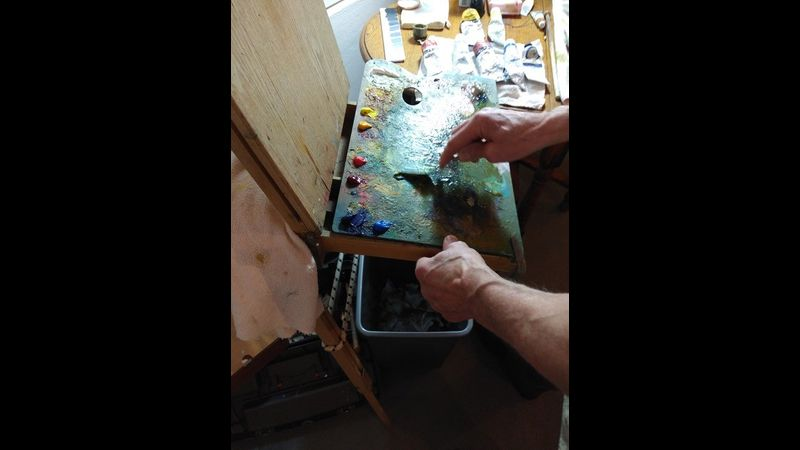 Eddie Goodridge Demonstrating at Lilac Cottage Studio