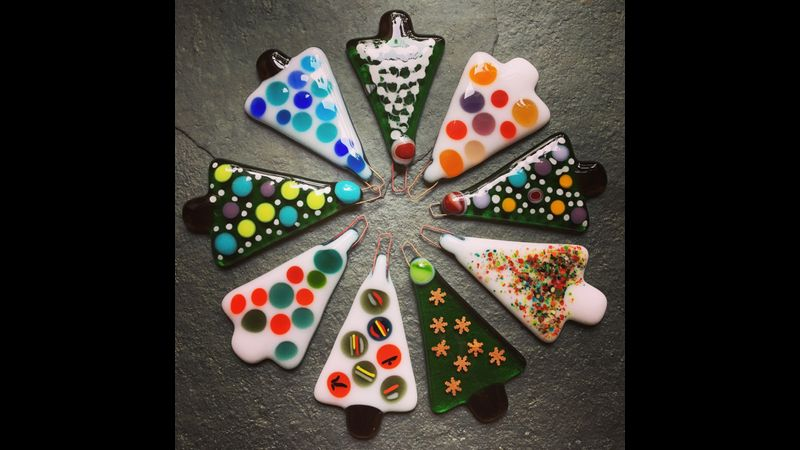 Christmas is coming at Rainbow Glass Studios - Fuse your own decorations with us!