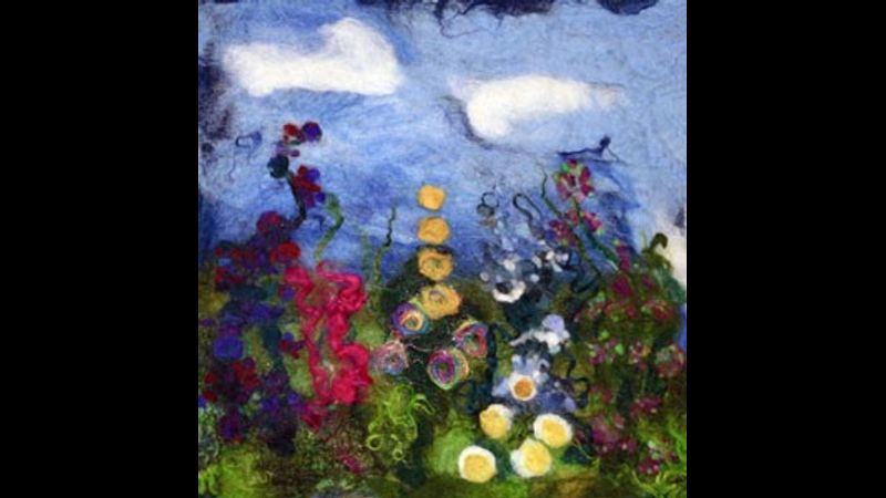 Felted Picture Flower Garden- Student