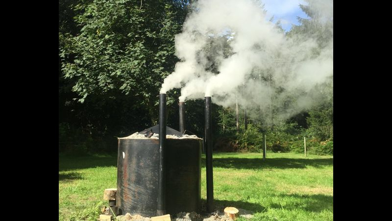 One day charcoal making course