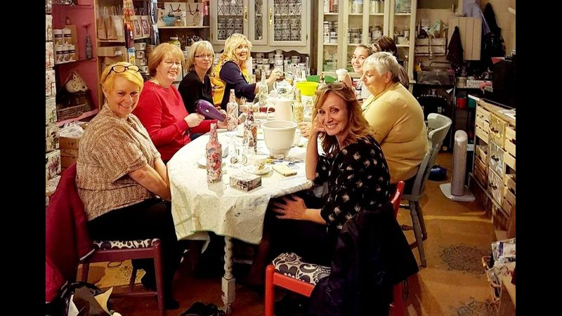 Decoupage Workshop at From Loft to Loved in Sedgefield