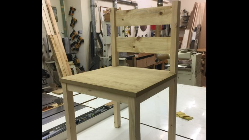 Indoor chair, made from scratch, Great British Woodshop, West Byfleet, Surrey.  Woodwork