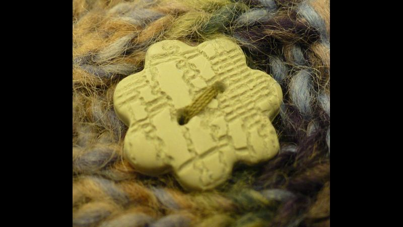 Handmade, colour-matched buttons, ideal for knitwear made at West Country Creative